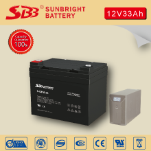 12V33AH SOLAR BATTERY WITH CE RoHS UL CERTIFICATION